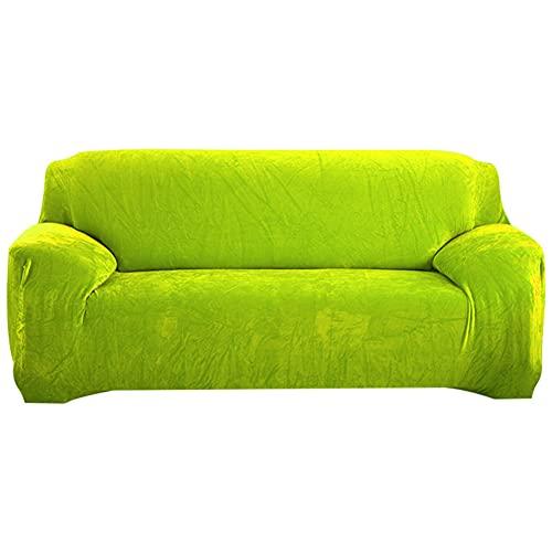 LUOQI Funda de Sofá Terciopelo, Funda de sofá Elastica, Cubierta Suave del sofá de la Felpa del Terciopelo para 1 Pieza para Silla con Brazos Cubiertas Muebles sillones Funda de sofá