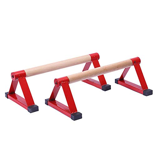 benefit-X Push Up Bars, Parallettes, Wood Parallettes Set Stretch Stand Handstand Fitness, Calisthenics Equipment, for Enhanced Push Ups, Men Women