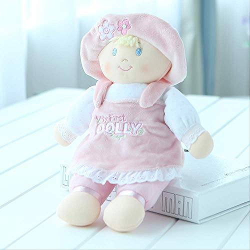 Pluche ,Speelgoed Lappenpop Pop Trompet Pop Kussen Pop Baby Begeleiden Slapende Knuffel Cadeau Meisje 33 cm Licht roze