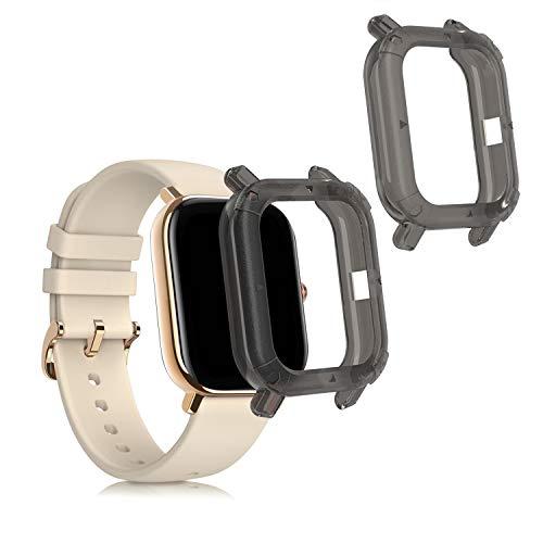 kwmobile Case Protettiva per Fitness Tracker Compatibile con Huami Amazfit GTS - Semitrasparente Protezione Sportiva Cardio Orologio Smart