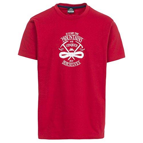 Trespass Heron T-Shirts et Tops de Sport Homme, Rouge, FR : M (Taille Fabricant : M)