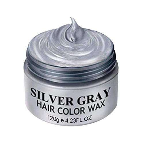 Color de Cera de Peinado del Cabello de Plata Gris Tinte de Pelo de Cera Cera Temporal del Cabello para Hombres y Mujeres