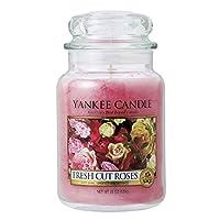 [ヤンキーキャンドル] YANKEE CANDLE 正規販売店 キャンドル YCジャーL フレッシュカットローズ (K0060503) (コード:4102074900-1)