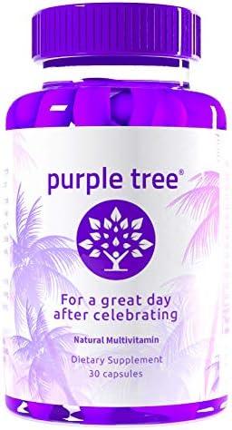 Purple Tree Celebration Vitamin Pills Rapid Hydration Liver Detox Better Mornings Dihydromyricetin product image