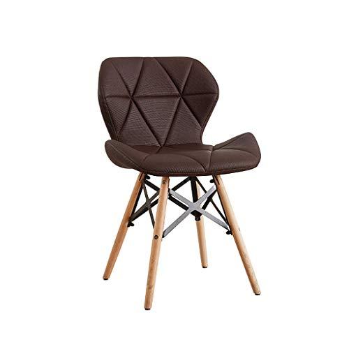 LJZslhei Stuhl Kreative Modernen Minimalistischen Stuhl Zurück Stuhl Esszimmerstuhl Stuhl Büro Bürostuhl (Color : Brown)