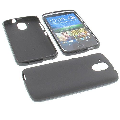 foto-kontor Tasche für HTC Desire 526G+ Desire 526G Gummi TPU Schutz Hülle Handytasche schwarz