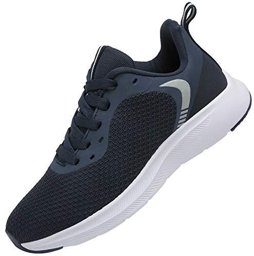 DAFENP Uomo Donna Scarpe da Ginnastica Sportive Corsa Sneakers Fitness Running Confortable Basse Basket Interior Casual all'Aperto XZ725-DarkBlue-EU42