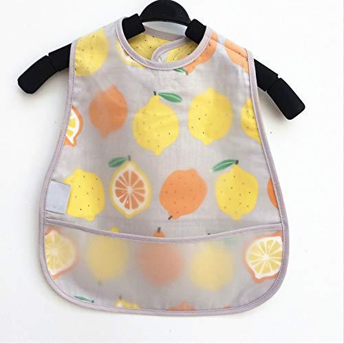 Kinder-Wasserdichtes Smock Baumwolle Baby Lätzchen Feeding Reis-Mahlzeit Anti-Dressing Baby Kind Zitrone