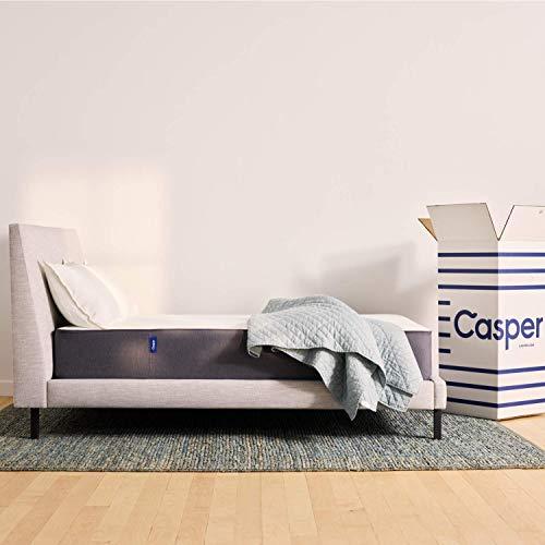 Casper Materasso a Memoria di forma, strato superiore a schiuma Alveolata traspirante, grigio, 90 x 200 cm, memory;a_schiuma, poliuretano