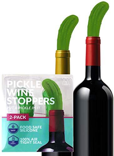 Hawwwy Funny Pickle Wine Stopper + Gift Box