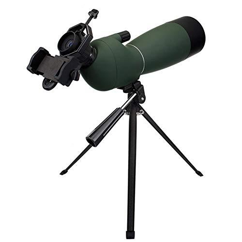 XYHHStor Alta definizione 50/60 / 70mm telescopio del zumbido Alcance de la localización Adaptador de Montaje a Prueba de Agua monocular Universal for la Caza para Camping Viajar (Color : 60mm)