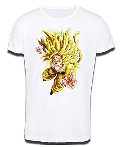MERCHANDMANIA Camiseta Tacto ALGODÓN A3 Goku SSJ 5 Dragon Ball AF Cotton Touch Tshirt