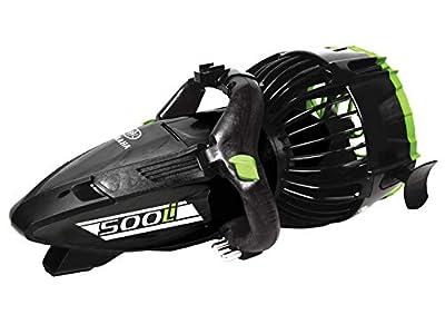 Yamaha Seascooter | Professional Dive Series | 220Li 350Li and 500Li | Underwater Scooter |Automatic Buoyance System| Designed for Salt Water | Class Power and Speed (500 Li |Metallic Black/Green)