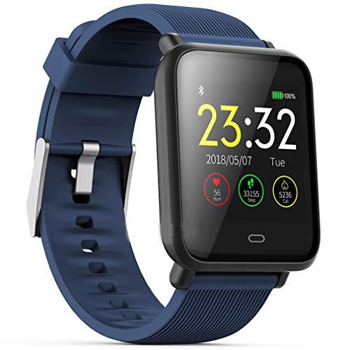 CCYOO Q9 Sport Smart Watch Bunter Bildschirm Wasserdicht Für Android/Ios Mit Pulsmesser Blutdruck Funktionen,Blue