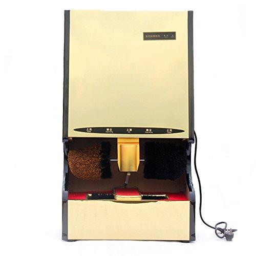 ZZHF Cireuse à Chaussures Détecteur Automatique Ciseaux Verticales Ménage Double Moteur électrique Brosse à Chaussures Machine 4 Couleurs Disponibles 30 * 90cm Cireuse (Couleur : C)
