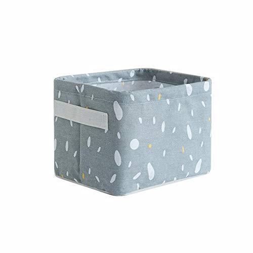 Caja de almacenaje Almacenamiento de lino de algodón a prueba de agua Canasta de maquillaje Oficina Organizador Caja de almacenamiento Ropa Sundries Snack Cesta de almacenamiento ( Color : Gray )