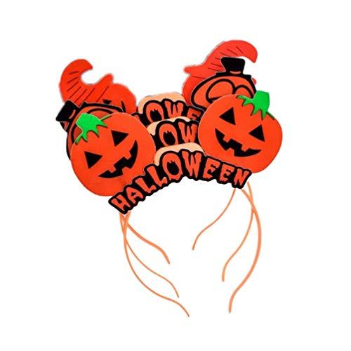 TOYANDONA 3pcs diademas de calabaza de halloween brillan en la oscuridad aro de luz para el cabello sombreros para fiesta de noche de halloween bar ktv accesorio para el cabello