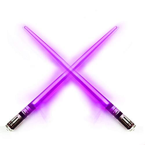 Chop Sabers Light Up Lightsaber Chopsticks, 1 Pair, Purple