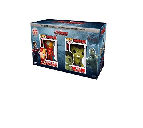 Avengers: L'ère d'Ultron + figurine Hulk & Iron man [Exclusivité Amazon] [Blu-ray 3D + 2D]