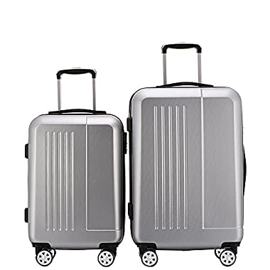 Fochier Luggage 2 Piece Set Lightweight Spinner Suitcase 20inch 24inch