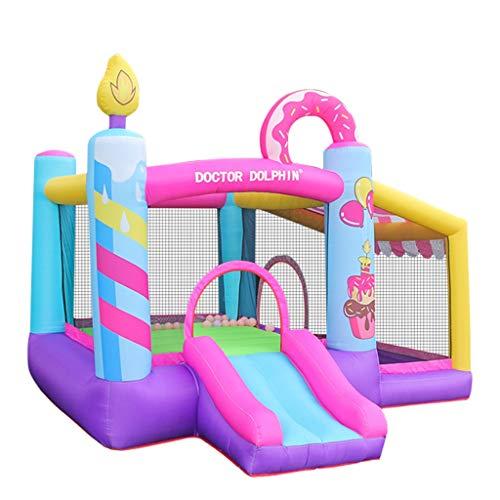 Castillo Hinchable para Niños Entretenimiento Game Cerca Interior Y Al Aire Libre Pequeño Tobogán Naughty Castle Square Park Juguete (Color : Multicolor, Size : 290 * 270 * 220CM)