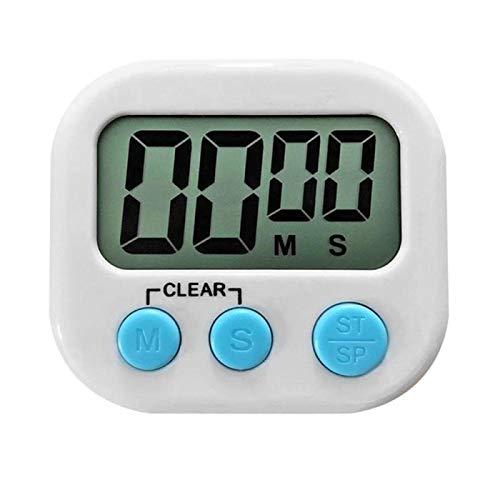 XKMY Big Digits - Soporte magnético con alarma y pantalla LCD para cocina, horneado, juegos deportivos, temporizador digital de cocina (color: blanco)