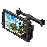 FYOUNG Tablet Halterung Auto Kopfstütze für Nintendo Switch, Einstellbare Autohalterung für Nintendo Switch/iPhone/iPad und Mehr Geräte (4'-11')