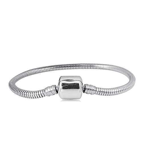 KunBead Mom Snake Charm Bracelets for Women Stainless Steel Adjustable Clip Lock