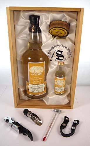 Imperial Distillery 25 Year Old Highland Malt Whisky 1976 Signatory Silent Stills Vintage Scotch Whisky Bottling in einer Geschenkbox, da zu 4 Weinaccessoires, 1 x 700ml