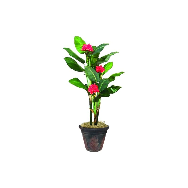 silk flower arrangements nudell banana artificial tree, 84-inch, green