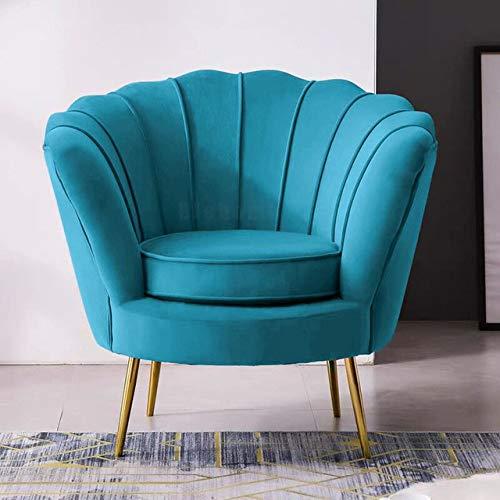 IHCIAIX Stuhl,Nordic Light Luxus Wohnzimmer Einzelsofastühle Flanell Freizeitstuhl Moderne Sofagarnitur Wohnzimmermöbel Schlafzimmermöbel, F.