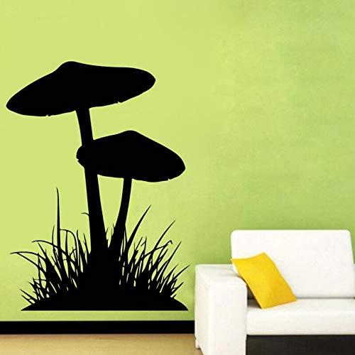 Hierba creativa seta pegatina de pared silueta de planta hogar habitación de bebé jardín de infantes decoración de sala de estar decoración de cocina pegatina de pared