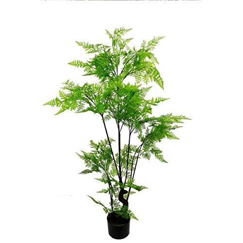 RongDuosi Decoratieve bloemen paars Hoge Simulatie Varen Boom Paardenstaart Varen Gras Bos Vloer Groene Plant Pot Decoratie
