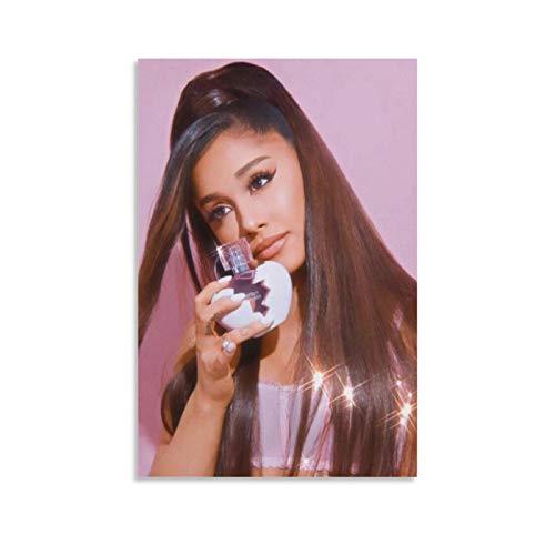 Poster de chanteur Ariana Grande 14 - Peinture décorative sur toile pour salon, chambre à coucher - 30 x 45 cm