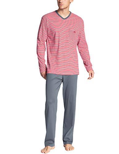 CALIDA Herren Relax Streamline 3 Zweiteiliger Schlafanzug, Rot (Tango red 156), Large (Herstellergröße:LL)