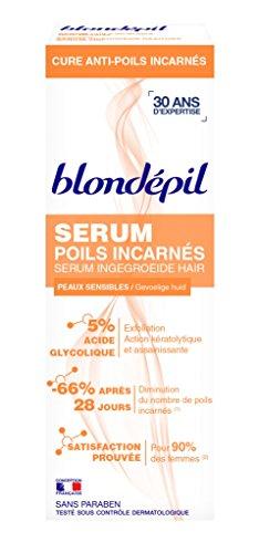 Blondépil Sérum Anti-Poils Incarnes Cure 1 Mois Peaux Sensibles 75 ml Lot de 3