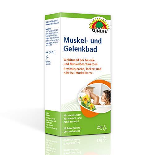 SUNLIFE Muskel & Gelenkbad: Badezusatz Wohltuend bei Gelenk- und Muskelschmerzen, Rosmarin Öl & Arnika, 250ml