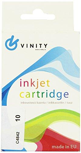 Vinity 5110025066 Kompatible Tintenpatrone für HP DJ 2000c, cn, 2500c, Designjet Colorpro GA, CAD-Drucker Entschädigung für No.10, 28 ml, gelb