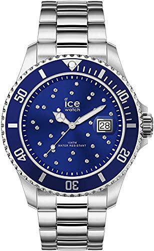 ICE-WATCH - ICE steel Blue cosmos silver - Silbergraue Damenuhr mit Metallarmband - 016773 (Medium)