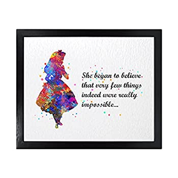Dignovel Studios 8X10 Unframed Very Few Things Indeed were Really Impossible Inspirational Quotes Words Saying Wisdom Girl Watercolor Art Print Poster Wall Art Nursery Kids Office Home Decor DN558