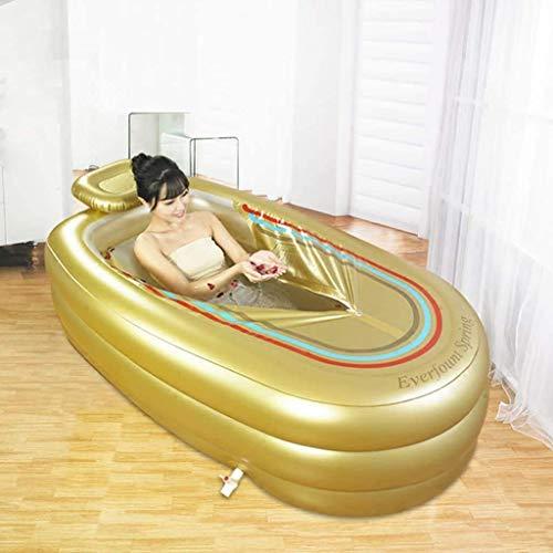 GYC Outdoor Sommergarten Badewanne Erwachsene Aufblasbare Badewanne Verdicken Kunststoff Badewanne Faltbare Badewanne Relax Pool- A.