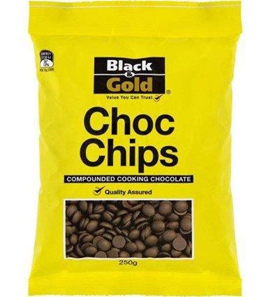 Schwarz & Gold-Schokolade-Chips Zusammengesetzt Kochen Schokolade 250g