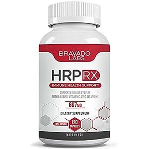 Premium Herpes Treatment Supplement - HrpRX - with L-Lysine, Vitamin C and Zinc - Cold Sore Treatment - Anti-Herpes L Lysine Supplement for Adults - Herpes Immune Support - Shingles Treatment