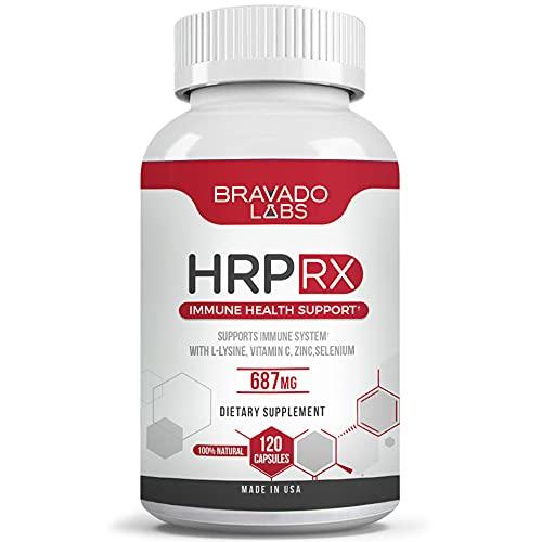 Premium Herpes Treatment Supplement - HrpRX - with L-Lysine, Vitamin C...