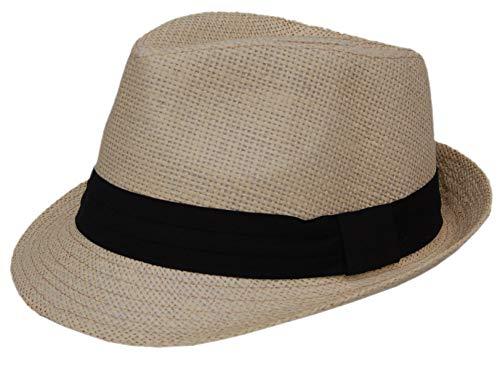 Cool4 Kinder Trilby Strohhut Beige Sommer Stroh Hut Cap Kappe Sonnenschutz Mütze Sonnenhut KH01