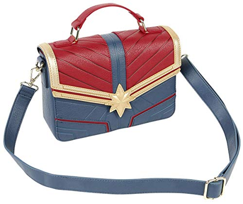 Loungefly x Captain Marvel Suit Bolso Cruzado en Relieve
