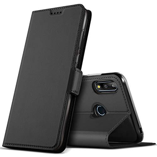 GEEMAI für Asus Zenfone max Pro M2 Hülle, handyhüllen Flip Hülle Wallet Stylish mit Standfunktion & Magnetisch PU Tasche Schutzhülle passt für Asus Zenfone max Pro M2 Smartphone, Schwarz