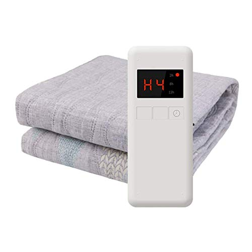 Manta Eléctrica Con Monitor, Colchón Caliente Calentado Sobre Lavable Suave Fleece,180 *...