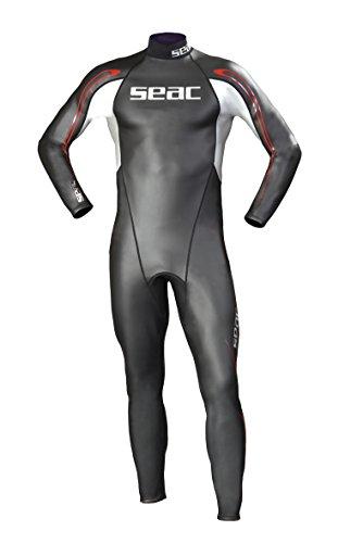 Seac Herren Neopren Schwimmanzug 2mm Shape, schwarz/Silber/Rot, 52