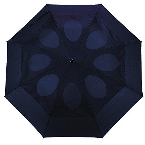 Windproof Umbrella Wind Resistant Folding Double Vented Rain...